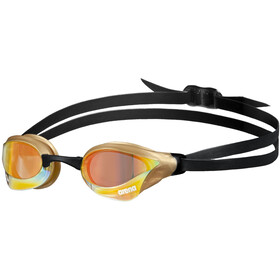 arena Cobra Core Swipe Mirror Okulary pływackie, yellow copper/gold